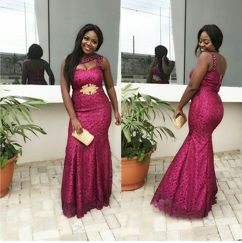 Classy Aso Ebi Styles In Lace Worn Over The Weekend @cc_nene