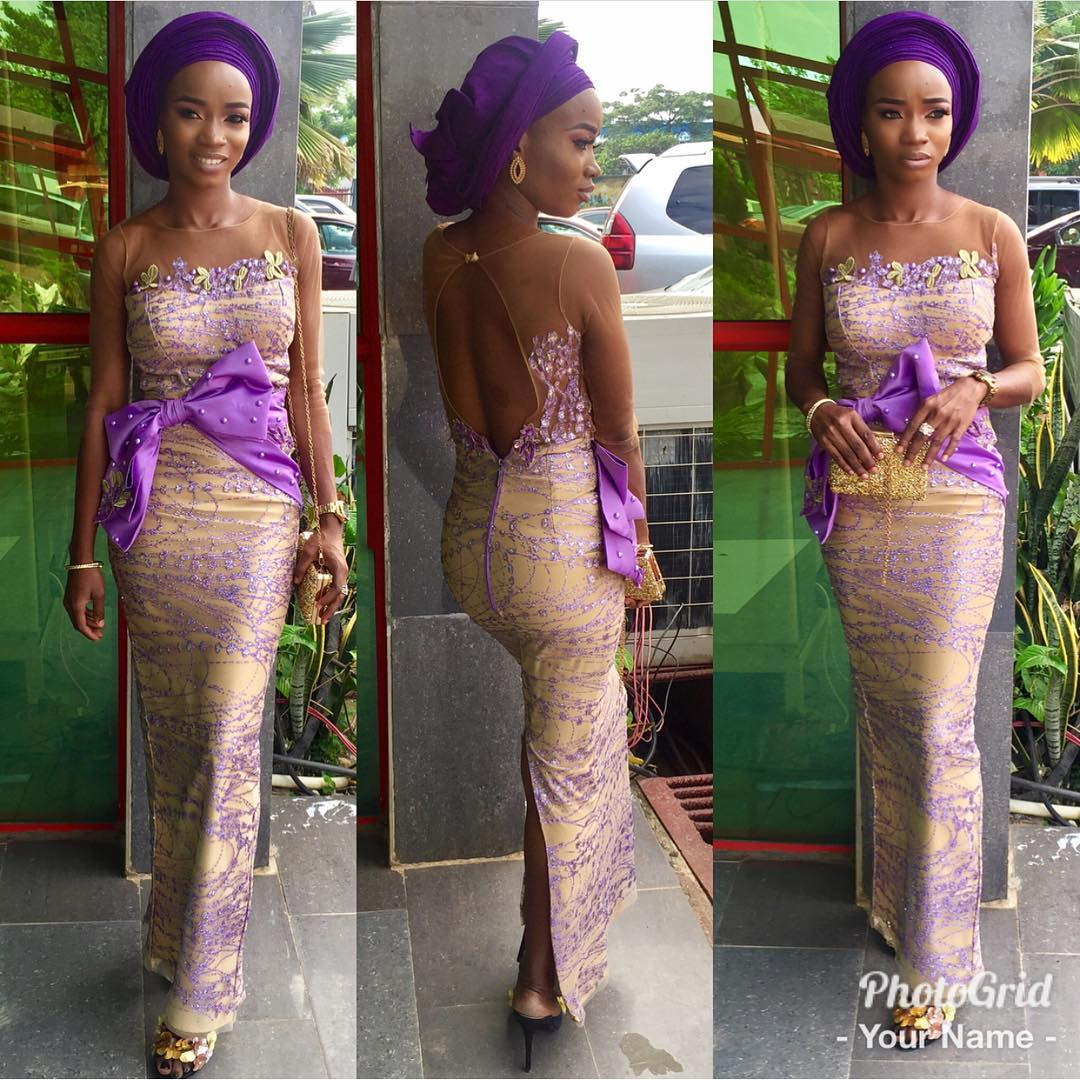 Keep It Minimal And Elegant This Weekend In Beautiful Aso Ebi Styles